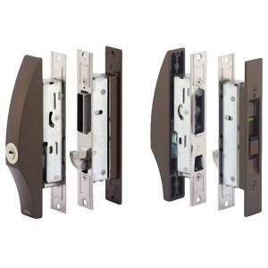 MIWA(美和ロック) 万能型 アルミサッシ 召合せ SL09-1LS-CB PSシリンダー 引き戸 引戸錠 引戸 引違戸 引き違い錠 内網戸対応 ブロンズ色|kagiproshop