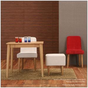ダイニングテーブルセット ダイニングセット 4点セット 食卓セット (75cm木製テーブル+ダイニングチェア2脚+スツール)|kagle