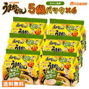 ラーメン うまかっちゃん 博多からし高菜風味 1ケース(5個パック×6個入) 九州 ハウス食品