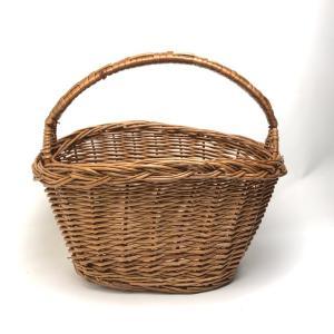 柳かごバッグ だ円 ワンハンドルバスケット かごバッグ 収納かご おしゃれ レディース 花カゴ デコ籠 インテリア 「幅28cm」SC-043800|kagocierge