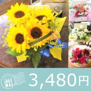誕生日 花 プレゼント  ギフト お祝い フラワーアレンジメント 生花  バスケット Mサイズ