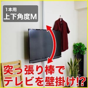 壁掛け風 壁寄せテレビスタンド 22-32V型対応 エアーポール 1本タイプ 上下角度M シルバー ap-113 エモーションズ kagu-11myroom