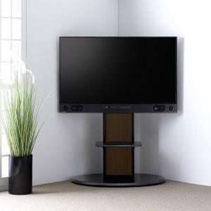 MITSUBISHI ブルーレイ搭載機種対応 棚板付き コーナーテレビ台 テレビスタンド 壁寄せ 壁...