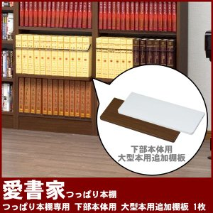 つっぱり本棚 愛書家専用 下部本体 大型本用追加棚板 1枚 CH-6017TAA4 充英アート|kagu-11myroom