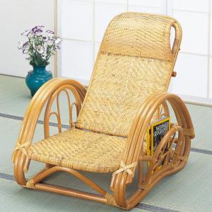 籐椅子 籐の椅子 籐リクライニングチェア 座面高23cm ブラウン IMA112 今枝商店|kagu-11myroom