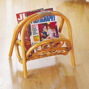 マガジンラック 木製 ラタン バスケット 籐家具 雑誌収納 新聞収納 IMR205 今枝商店|kagu-11myroom