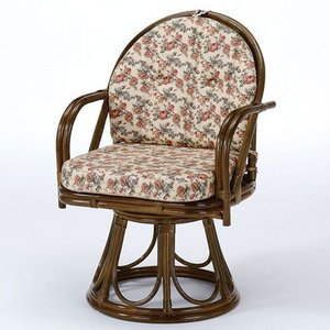 籐椅子 籐の椅子 回転座椅子 ラタン 椅子 ハイタイプ 座面高43cm IMS254B 今枝商店|kagu-11myroom