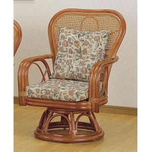 籐椅子 籐の椅子 回転座椅子 ラタン 椅子 ハイタイプ 座面高35cm IMS563 今枝商店|kagu-11myroom