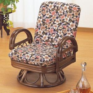 籐椅子 籐の椅子 回転座椅子 ラタン 椅子 ミドルタイプ 座面高30cm IMS889B 今枝商店|kagu-11myroom