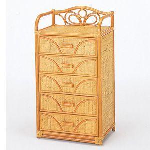 籐 チェスト ラタン チェスト ラタンチェスト 木製 衣類収納 引き出し5杯 IMW701 今枝商店|kagu-11myroom
