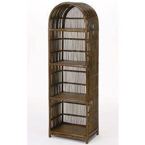 ラタンラック 籐飾り棚 4段 籐家具 スリム IMW748B 今枝商店|kagu-11myroom
