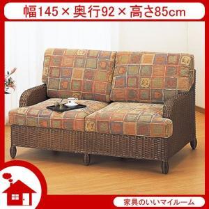 ラタン ソファ ソファー 2人掛け 籐椅子 籐の椅子 SH43 ダークブラウン ラタン家具 IMY112B 今枝商店|kagu-11myroom
