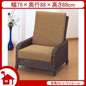 ラタン ソファ ソファー 籐椅子 籐の椅子 ハイバックチェア SH35 ダークブラウン ラタン家具 IMY115B 今枝商店|kagu-11myroom