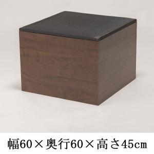 畳収納 ハイタイプ ユニット畳 高床 PP樹脂畳ユニット PP-BK-H60 ブラック黒 ダークブラウン たたみ 畳ボックス 幅60cm 高さ45cm 日本製 サンアイ kagu-11myroom