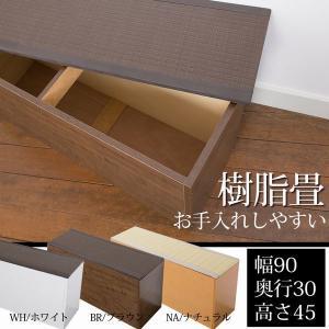 PP畳ベンチ 収納畳(たたみ)収納畳ベンチ 収納ユニット PP樹脂畳収納 畳ボックス 畳収納 幅90cm 高さ45cm スリム ハイタイプ PP-bnc-90 kagu-11myroom