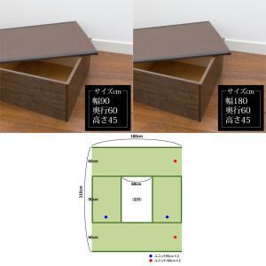 畳収納 ハイタイプ ユニット畳 高床 PP樹脂畳ユニット Bセット ブラウン PP-HB-BR 掘りごたつ風 たたみ 幅180cm 幅90cm 高さ45cmのセット 日本製 サンアイ