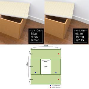 畳収納 ハイタイプ ユニット畳 高床 PP樹脂畳ユニット Bセット ナチュラル PP-HB-NA 掘りごたつ風 たたみ 幅180cm 幅90cm 高さ45cmのセット 日本製 サンアイ