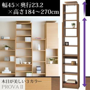 本棚 つっぱり つっぱり本棚 薄型本棚 プローバ2 幅45cm PR2-450 タカシン kagu-11myroom