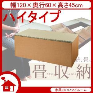 畳 ユニット 畳 収納ユニット 小上がり 収納 幅120cm ハイタイプ ナチュラル SaTY-120H-NA サンアイ|kagu-11myroom