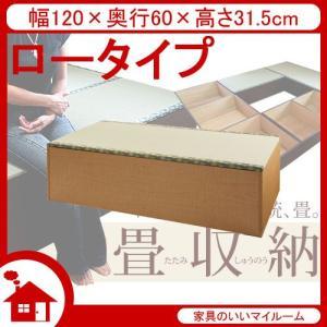 畳 ユニット 畳 収納ユニット 小上がり 収納 幅120cm ロータイプ ナチュラル SaTY-120L-NA サンアイ|kagu-11myroom