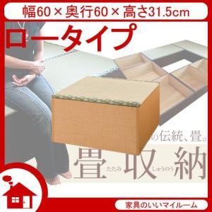 畳 ユニット 畳 収納ユニット 小上がり 収納 幅60cm ロータイプ ナチュラル SaTY-60L-NA サンアイ|kagu-11myroom