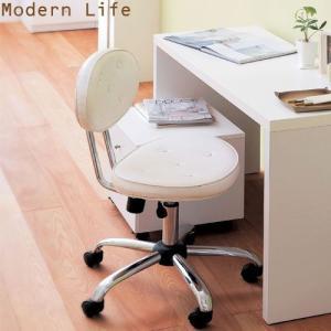 パソコンチェア デスクチェア モダンライフ ホワイト TnRS-C8108-WH-a 高梨産業|kagu-11myroom
