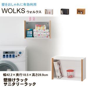 壁掛けラック 壁掛け 棚 サニタリーラック ウォルクス WLK-3040 白井産業|kagu-11myroom
