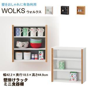 壁掛けラック 壁掛け 棚 ミニ食器棚 ウォルクス WLK-4540 白井産業|kagu-11myroom