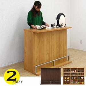 バーカウンター バーカウンター テーブル 幅115 高91 ホームバー ハイカウンター ナチュラル 木目調 間仕切り 完成品 日本製 キッチン収納|kagu-1