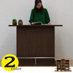 バーカウンター バーカウンター テーブル 幅120 高91 ホームバー ハイカウンター 間仕切り 完成品 日本製 キッチン収納|kagu-1