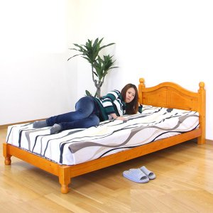 ベット ベッド シングルベッド スノコベッド ローベッド 100幅 幅100cm 木製 脚付き 北欧 モダン カントリー (数量限定)商品 アウトレット価格並 大川家具|kagu-1