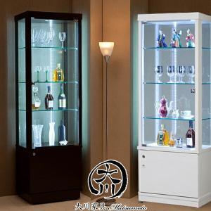 コレクションボード コレクションケース 60幅 幅60cm ガラスケース 鍵付き キャスター付き フィギュアケース ホワイト 木製 北欧 アウトレット価格並