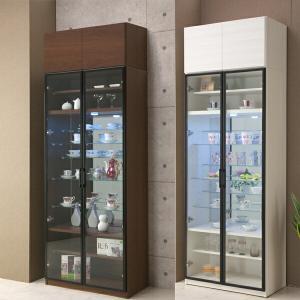コレクションボード コレクションケース 80幅 幅80cm 上置き付 ガラスケース 強化ガラス フィギュアケース 日本製 ホワイト 木製 北欧 北欧 アウトレット価格並|kagu-1