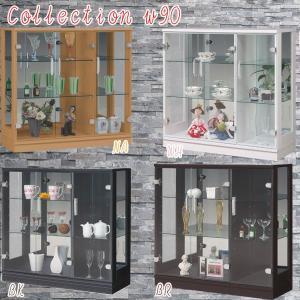 コレクションケース コレクションボード ガラスケース コレクションラック 飾り棚 幅90cm 完成品 モダン 鏡 ホワイト ブラック ナチュラル アウトレット価格並|kagu-1