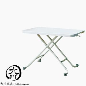 センターテーブル リビングテーブル 昇降式テーブル 幅90 90幅 リフティングテーブル 鏡面 ツヤ 艶有り ホワイト 北欧 大川家具Matsumoto|kagu-1