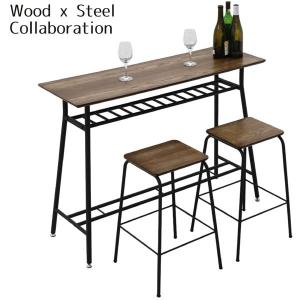 カウンター バーカウンター カウンターテーブル BARテーブル キッチンテーブル チェアー 120幅 幅120cm 3点セット 北欧 モダン おしゃれ アウトレット価格並|kagu-1