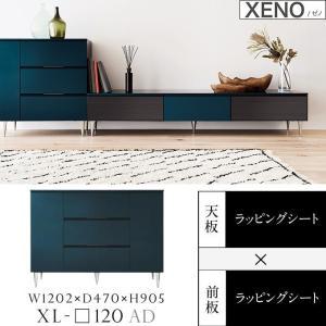 サイドボード 開き 板扉 完成品 XENO ゼノ リビング収納 XL-120AD 幅120 国産家具 最高峰 上質 雰囲気 きれい|kagu-hiraka