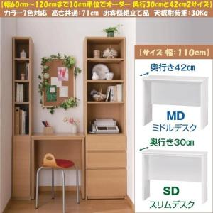 ブック すきまくん デスク BSP-SD110 スリム BSP-MD110 ミドル 日本製|kagu-hiraka