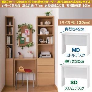 ブック すきまくん デスク BSP-SD120 スリム BSP-MD120 ミドル 日本製|kagu-hiraka