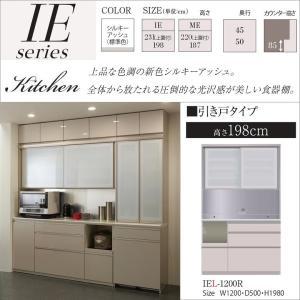 パモウナ IEL-1200R IER キッチン 食器棚 幅120cm 奥行50cm 家電収納家具|kagu-hiraka