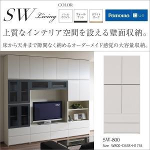 キャビネット板扉 SW-800 パモウナ 日本製 床から天井まで大容量壁面収納の写真