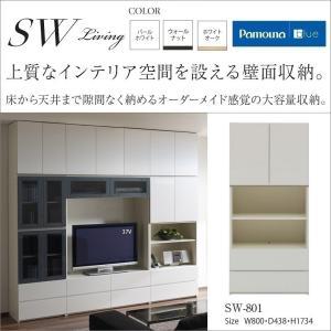 キャビネット 板扉OP SW-801 パモウナ 床から天井大容量壁面収納|kagu-hiraka