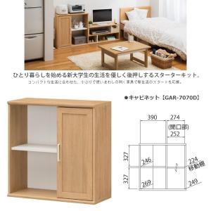 キャビネット GAR-7070D ガレンタ 2段ラック 片扉 A4収納 本棚 コンパクト kagu-hiraka