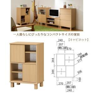 ネオスタ NEO-8555D キャビネット 木製 コンパクトサイズ 一人暮らし 組立品|kagu-hiraka