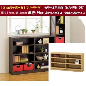 タナリオ TNL-60117 フリーラック 多目棚 本棚 ロータイプ スタンダード kagu-hiraka