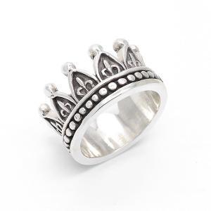 リング 指輪 メンズ レディース ユニセックス シルバー925 クラウン 王冠 ボーイズ アメカジ ロック バイカー 可愛い プレゼント|kagu-piena