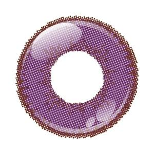アシストシュシュ シャイニーエッジワンデー カラコン カラーコンタクトレンズ 1箱10枚入 度あり アメジスト 男装向き 超発色 コスプレ|kagu-piena