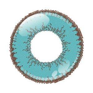 アシストシュシュ シャイニーエッジワンデー カラコン カラーコンタクトレンズ 1箱10枚入 度あり ターコイズ 男装向き 超発色 コスプレ|kagu-piena