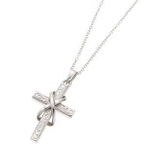 ネックレス ハワイアンジュエリー サージカルステンレス クロス 十字架 願い 神秘の力 永遠の愛|kagu-piena