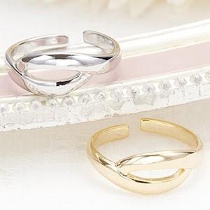 サイズフリー トゥリング 足の指輪 繊細華奢リング シンプルアラベスク ピンキーリングにも シルバー ゴールド レディース|kagu-piena